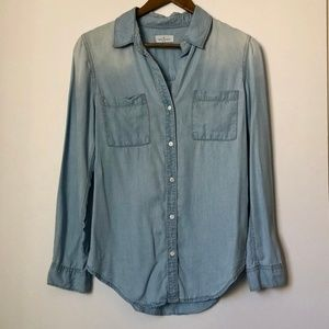 Thread & Supply Faded Shoulder Button Down Shirt